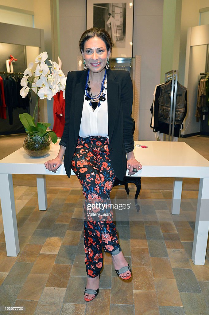 Stacy London greets fans and signs copies of her book 'The Truth About Style' presented by Books and Books at Neiman Marcus on October 8, 2012 in Miami Beach, Florida.