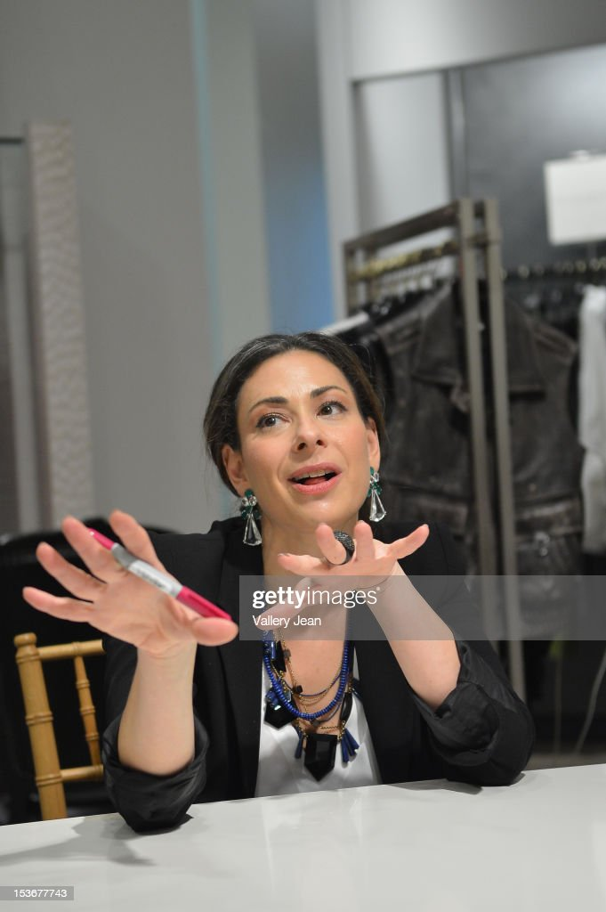<a gi-track='captionPersonalityLinkClicked' href=/galleries/search?phrase=Stacy+London&family=editorial&specificpeople=542682 ng-click='$event.stopPropagation()'>Stacy London</a> greets fans and signs copies of her book 'The Truth About Style' presented by Books and Books at Neiman Marcus on October 8, 2012 in Miami Beach, Florida.