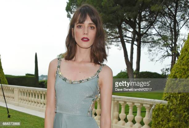 Stacy Martin arrives at the amfAR Gala Cannes 2017 at Hotel du CapEdenRoc on May 25 2017 in Cap d'Antibes France