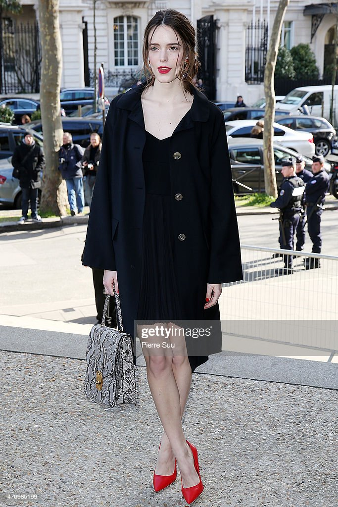 <a gi-track='captionPersonalityLinkClicked' href=/galleries/search?phrase=Stacy+Martin&family=editorial&specificpeople=5545651 ng-click='$event.stopPropagation()'>Stacy Martin</a> arrives at the Miu Miu show as part of the Paris Fashion Week Womenswear Fall/Winter 2014-2015 on March 5, 2014 in Paris, France.