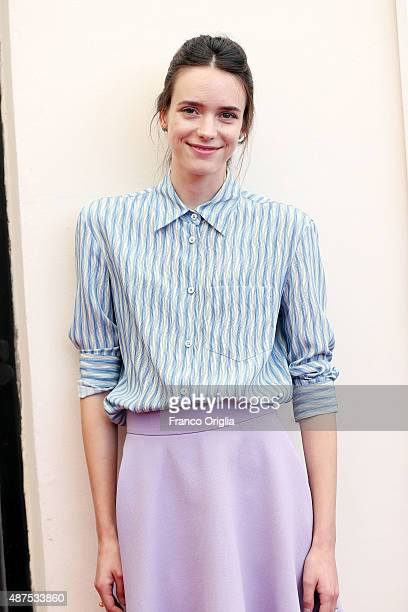 Stacy Martin attends a photocall for 'Taj Mahal' during the 72nd Venice Film Festival at Palazzo del Casino on September 10 2015 in Venice Italy