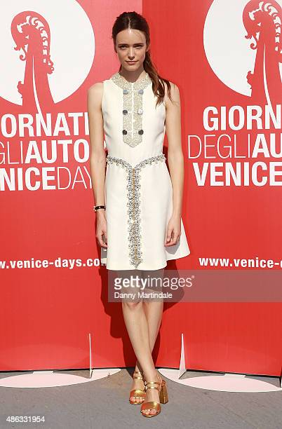 Stacy Martin attends a photocall for 'Women's Tales' during the 72nd Venice Film Festival on September 3 2015 in Venice Italy