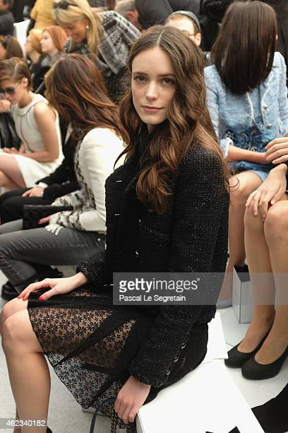 Stacy Martin attends the Chanel show as part of Paris Fashion Week Haute Couture Spring/Summer 2015 on January 27 2015 in Paris France