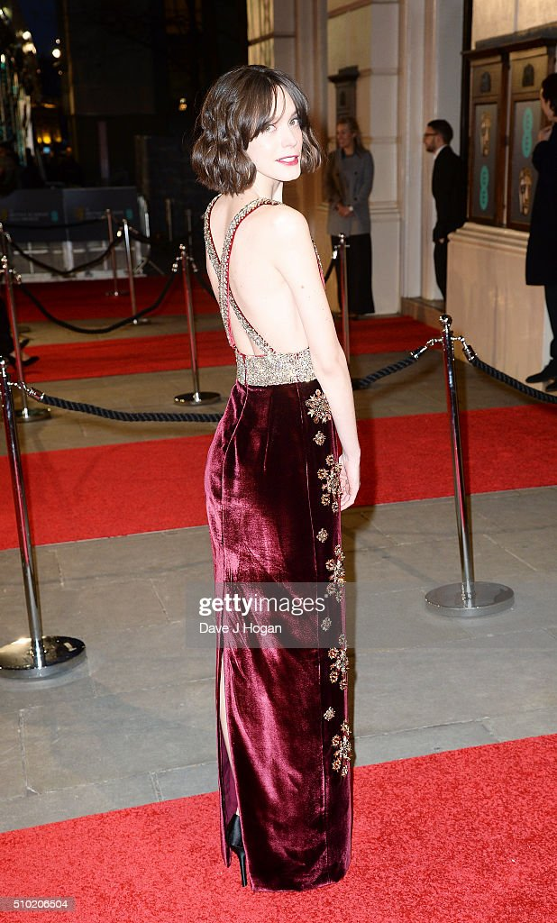 <a gi-track='captionPersonalityLinkClicked' href=/galleries/search?phrase=Stacy+Martin&family=editorial&specificpeople=5545651 ng-click='$event.stopPropagation()'>Stacy Martin</a> attends the EE British Academy Film Awards at The Royal Opera House on February 14, 2016 in London, England.