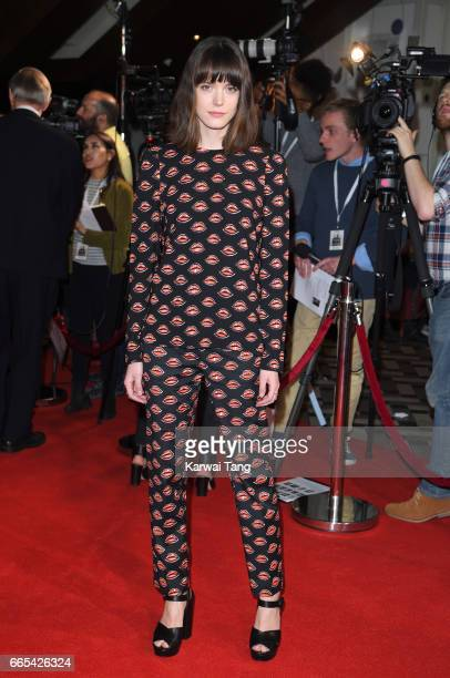 Stacy Martin attends the Gala screening of 'The Sense of an Ending' at Picturehouse Central on April 6 2017 in London England