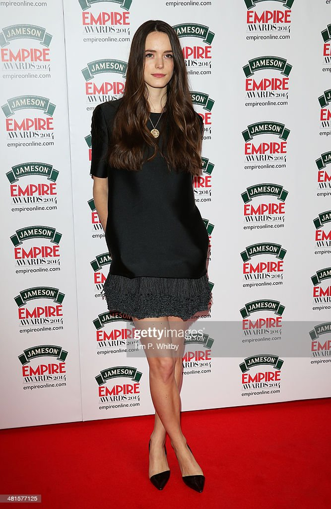 Stacy Martin attends the Jameson Empire Awards 2014 at the Grosvenor House Hotel on March 30, 2014 in London, England. Regarded as a relaxed end to the awards show season, the Jameson Empire Awards celebrate the film industry's success stories of the year with winners being voted for entirely by members of the public. Visit empireonline.com/awards2014 for more information.