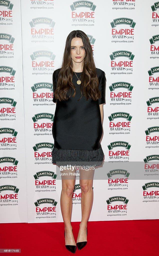 Stacy Martin attends the Jameson Empire Film Awards at The Grosvenor House Hotel on March 30, 2014 in London, England.