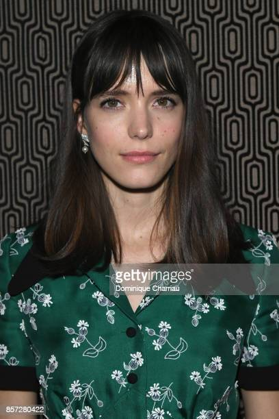 Stacy Martin attends the Miu Miu aftershow party as part of the Paris Fashion Week Womenswear Spring/Summer 2018 at Boum Boum on October 3 2017 in...