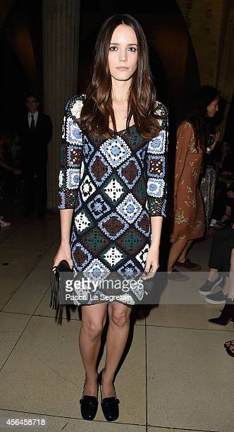 Stacy Martin attends the Miu Miu show as part of the Paris Fashion Week Womenswear Spring/Summer 2015 on October 1 2014 in Paris France