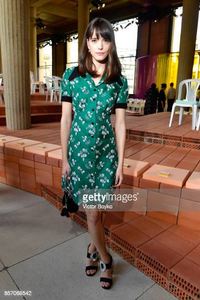 Stacy Martin attends the Miu Miu show as part of the Paris Fashion Week Womenswear Spring/Summer 2018 on October 3 2017 in Paris France