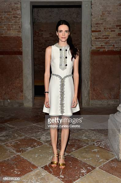 Stacy Martin attends the Miu Miu Women's Tales Dinner during the 72nd Venice Film Festival at Ca' Corner della Regina on September 3 2015 in Venice...