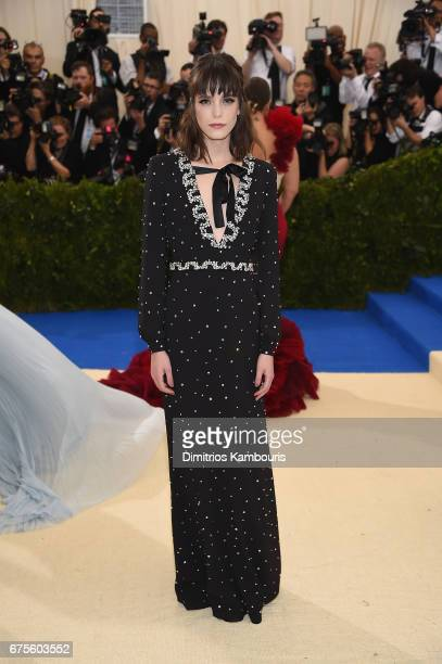 Stacy Martin attends the 'Rei Kawakubo/Comme des Garcons Art Of The InBetween' Costume Institute Gala at Metropolitan Museum of Art on May 1 2017 in...