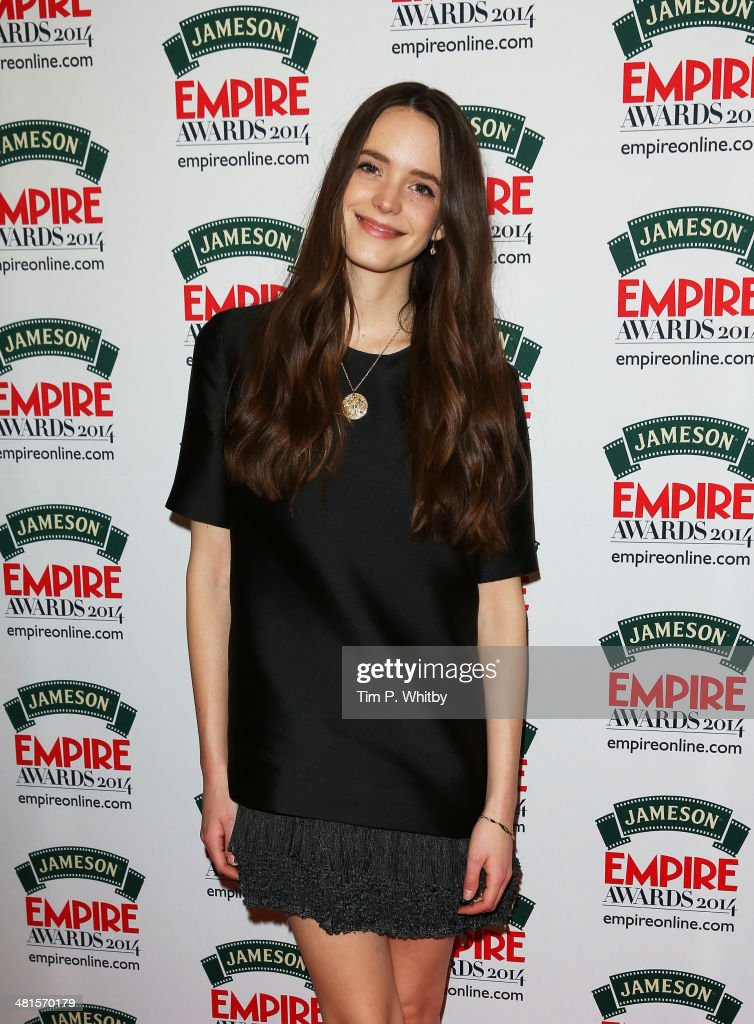 Stacy Martin poses during the Jameson Empire Awards 2014 at the Grosvenor House Hotel on March 30, 2014 in London, England. Regarded as a relaxed end to the awards show season, the Jameson Empire Awards celebrate the film industry's success stories of the year with winners being voted for entirely by members of the public. Visit empireonline.com/awards2014 for more information.