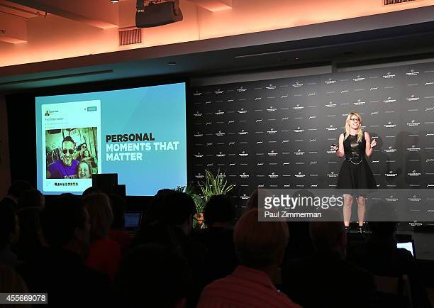Stacy Minero Head of Content Planning Twitter speaks at NewsCred's Content Marketing Summit at Metropolitan Pavilion on September 18 2014 in New York...