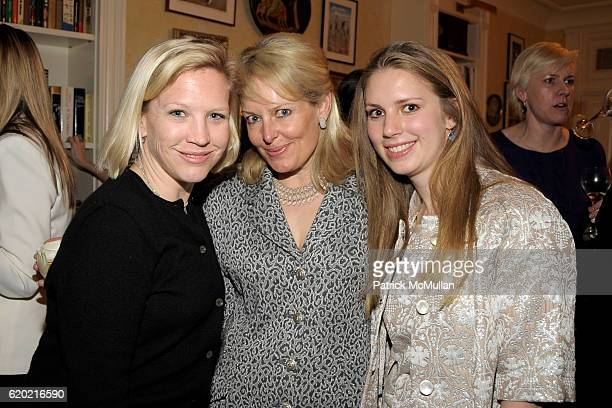 Stacy Schermerhorn Susan Miller and Hadley Nagel attend TINA BROWN VICKY WARD and LA MER host a party honoring SUSAN NAGEL'S new book 'Marie Therese'...