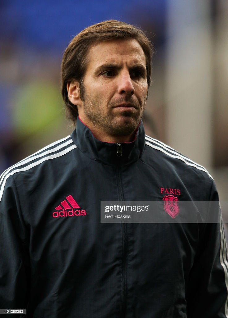 Stade Francais director of Rugby <a gi-track='captionPersonalityLinkClicked' href=/galleries/search?phrase=Gonzalo+Quesada&family=editorial&specificpeople=685928 ng-click='$event.stopPropagation()'>Gonzalo Quesada</a> looks on ahead of the Amlin Challenge Cup match between London Irish and Stade Francais Paris at Madejski Stadium on December 8, 2013 in Reading, England.