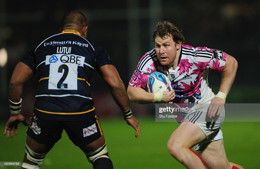 Stade Francais prop Aled De Malmanche in action during the Amlin Challenge Cup match between Worcester Warriors and Stade Francais at Sixways Stadium on November 10, 2011 in Worcester, England.