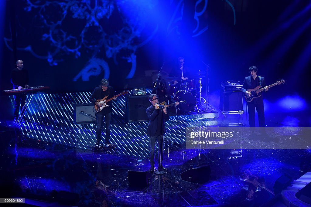 Stadio attend the third night of the 66th Festival di Sanremo 2016 at Teatro Ariston on February 11, 2016 in Sanremo, Italy.