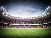 Crowded soccer stadium