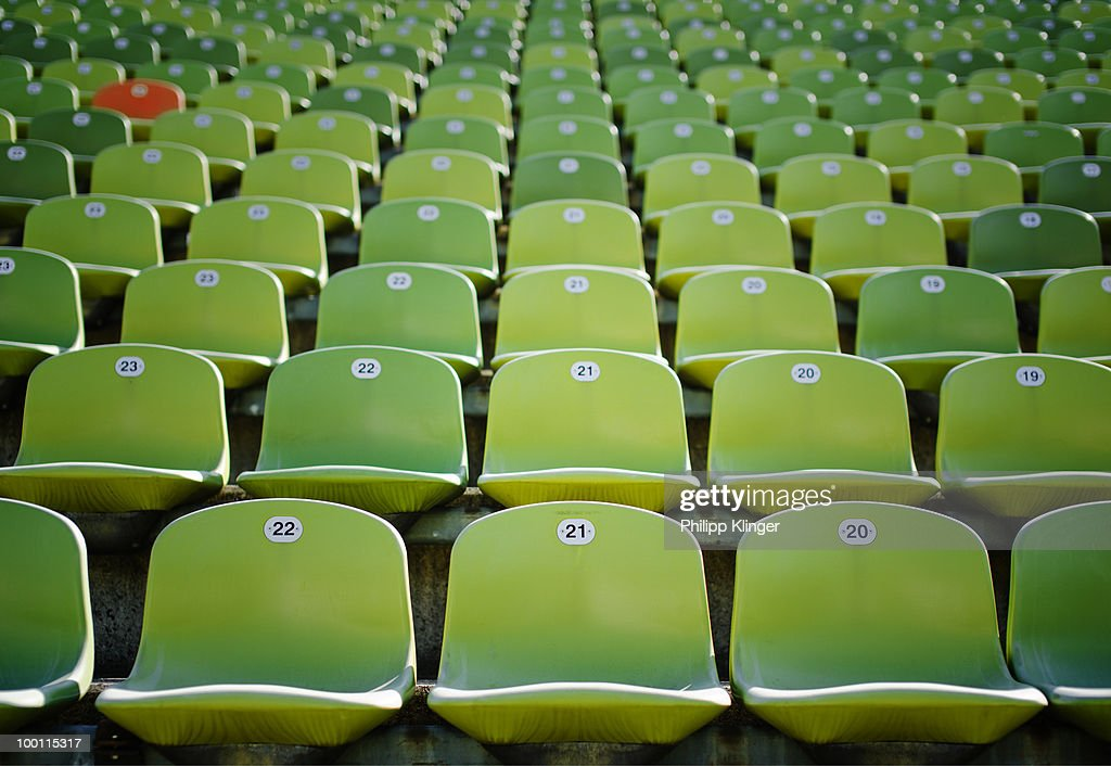 Stadium chair : Stock Photo