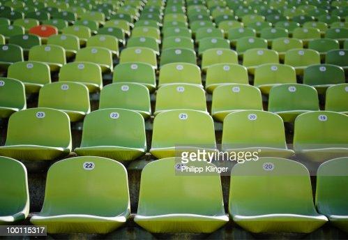 Stadium chair : Stock Photo