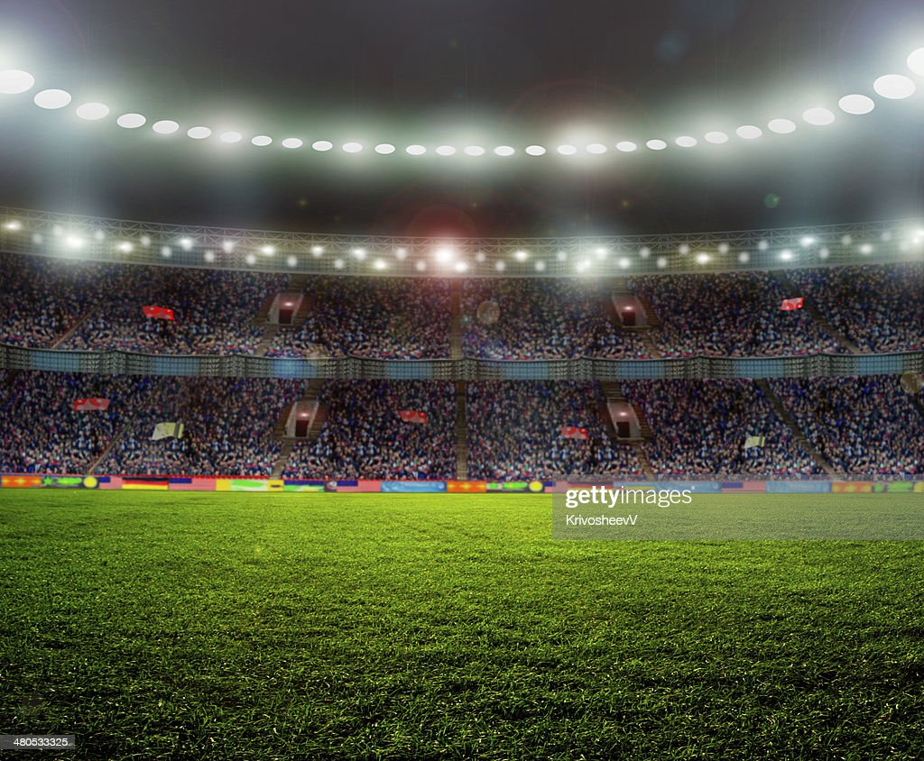 Stadium for sports and concerts empty on a sunny day : Stock Photo
