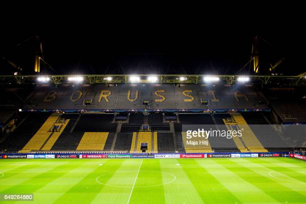 Stadium in Dortmund prior the UEFA Champions League Round of 16 second leg match between Borussia Dortmund and SL Benfica at Signal Iduna Park on...