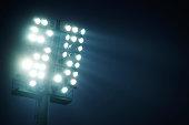 Stadium lights  - front view