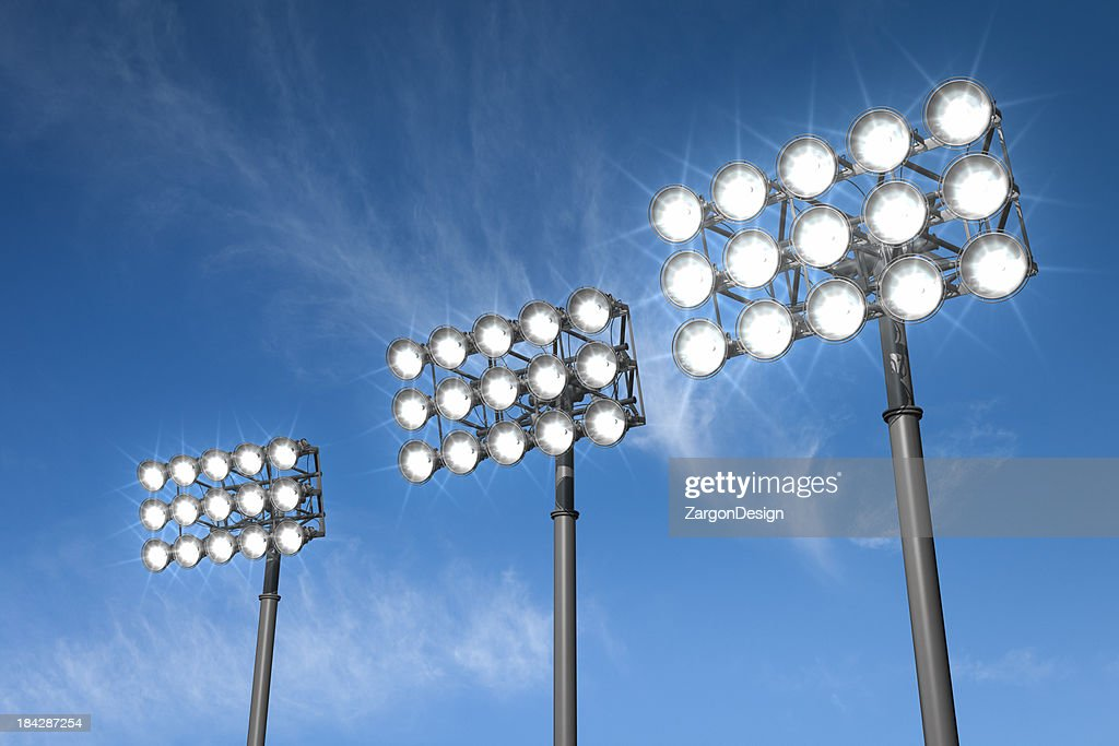 Stadium Lights : Stock Photo