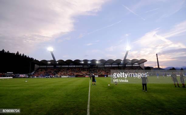 Stadium reacts during the UEFA Europa League Qualifier between MFK Ruzomberok and Everton on August 3 2017 in Ruzomberok Slovakia
