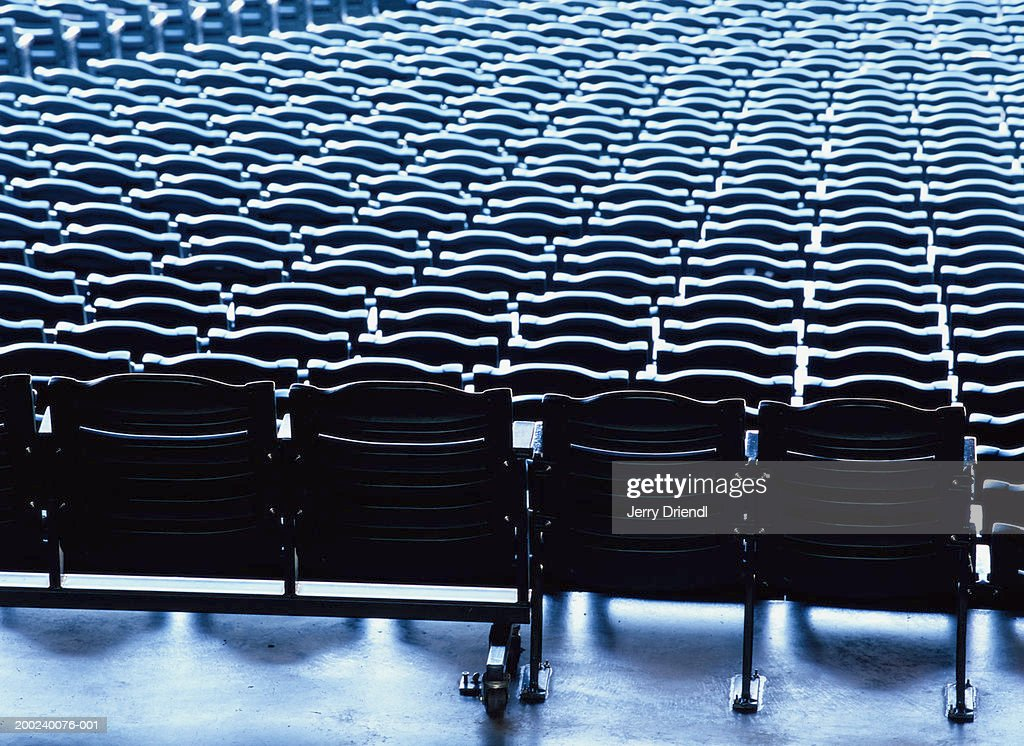 Stadium seats, full frame : Stock Photo