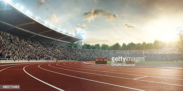 stadium with running tracks