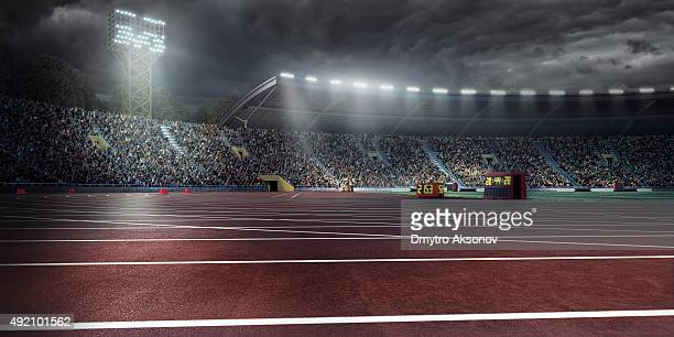 Olympic stadium with running tracks