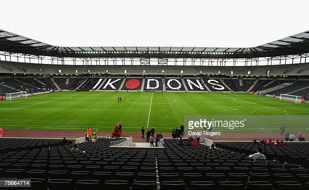 Stadiummk home of the MK Dons pictured prior to the preseaon friendly match between MK Dons and West Ham United at Stadiummk on July 25 2007 in...
