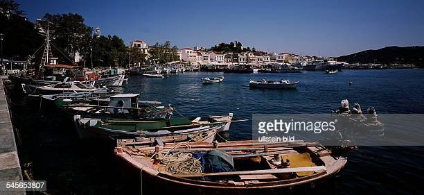 Stadt Skiathos mit Hafen 1994