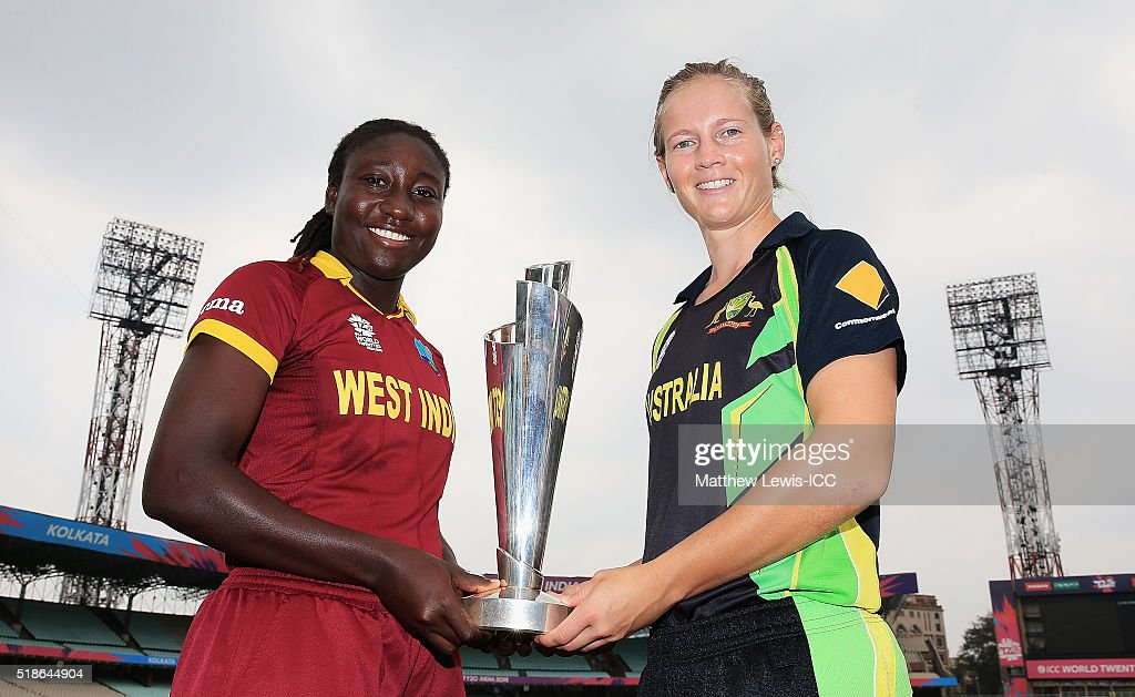 <a gi-track='captionPersonalityLinkClicked' href=/galleries/search?phrase=Stafanie+Taylor&family=editorial&specificpeople=5747707 ng-click='$event.stopPropagation()'>Stafanie Taylor</a>, Captain of the West Indies and <a gi-track='captionPersonalityLinkClicked' href=/galleries/search?phrase=Meg+Lanning&family=editorial&specificpeople=5656168 ng-click='$event.stopPropagation()'>Meg Lanning</a>, Captain of Australia pictured during a Captain's Photocall ahead of the Womens ICC World Twenty20 India 2016 Final at Eden Gardens on April 2, 2016 in Kolkata, India.