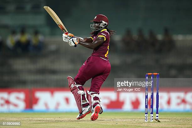 Stafanie Taylor Captain of the West Indies hits out during the Women's ICC World Twenty20 India 2016 match between West Indies and Pakistan at MA...