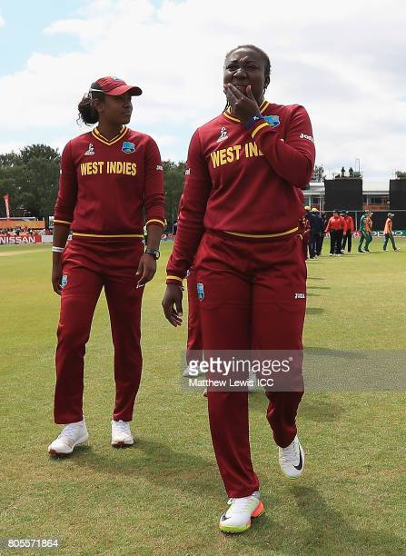 Stafanie Taylor captain of the West Indies looks on after her team lost to South Africa the ICC Women's World Cup 2017 match between South Africa and...