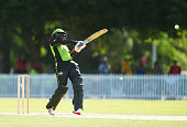 Stafanie Taylor of the Thunder bats during the Women's Big Bash League match between the Sydney Thunder and the Sydney Sixers at Howell Oval on...