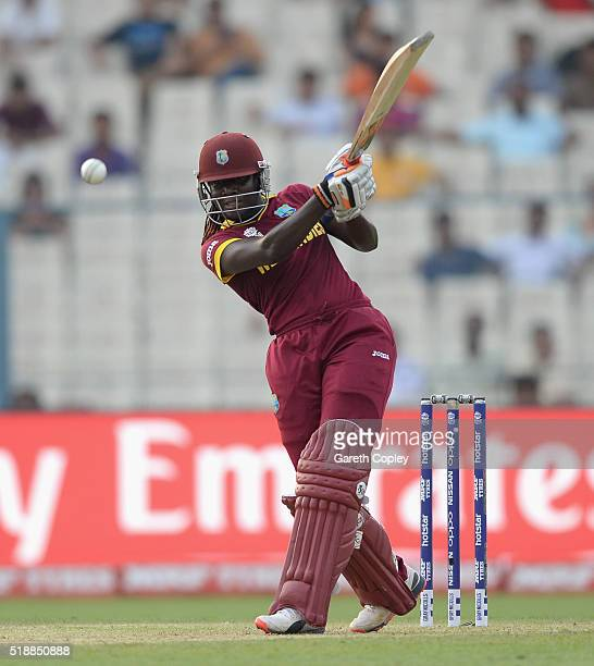 Stafanie Taylor of the West Indies bats during the Women's ICC World Twenty20 India 2016 Final between Australia and the West Indies at Eden Gardens...