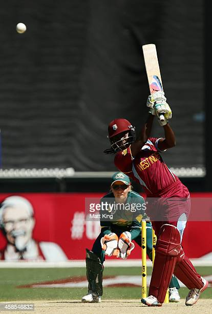 Stafanie Taylor of West Indies bats during game three of the International Women's Twenty20 match between Australia and the West Indies at Melbourne...