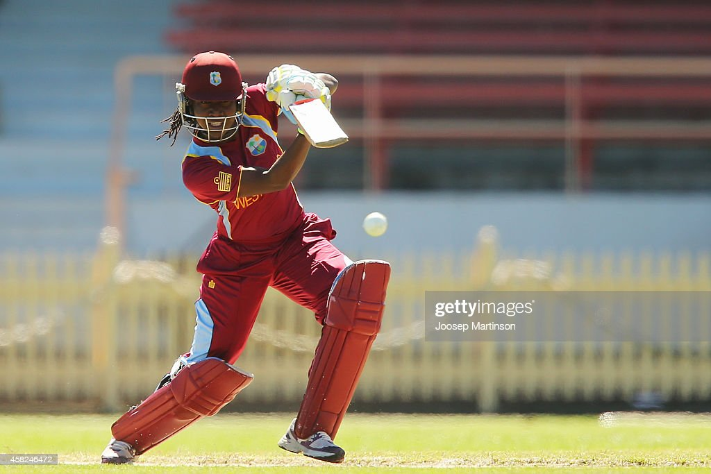 <a gi-track='captionPersonalityLinkClicked' href=/galleries/search?phrase=Stafanie+Taylor&family=editorial&specificpeople=5747707 ng-click='$event.stopPropagation()'>Stafanie Taylor</a> of West Indies bats during the women's International Twenty20 match between Australia and the West Indies at North Sydney Oval on November 2, 2014 in Sydney, Australia.