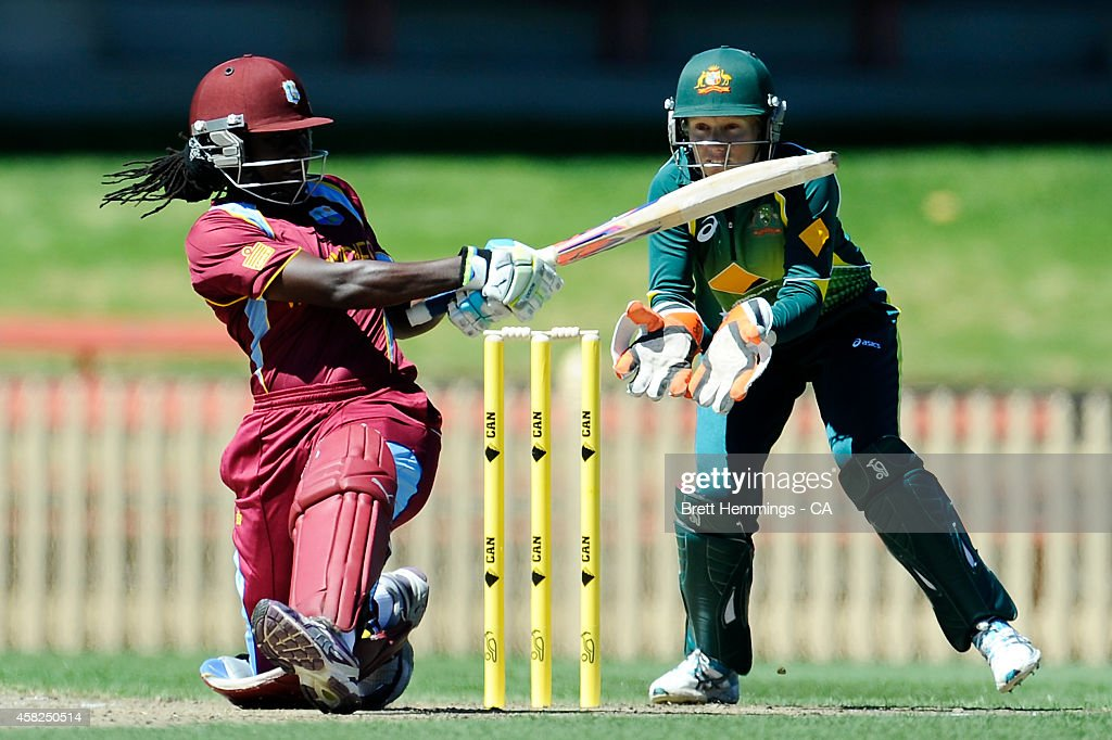 Stafanie Taylor of West Indies bats during the women's International Twenty20 match between Australia and the West Indies at North Sydney Oval on November 2, 2014 in Sydney, Australia.