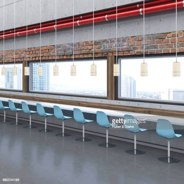 staff dining room in office