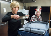 Staff from the Southern Maine Agency on Aging and volunteers from the Portland Rotary Club delivered hot meals to homebound seniors who would be...