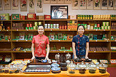 Staff inside shop, Chongqing, China