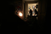 Staff move a resident using flashlights as Hurricane Ike aproaches at nursing home Ashton Parke Care Center in Texas City The electricity went out...