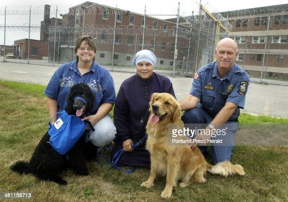 Staff Photo by Jill Brady Fri Aug 10 2001 Sister Pauline Quinn OP center founder of the Prison PUP Program at the Maine Correctional Center in South...
