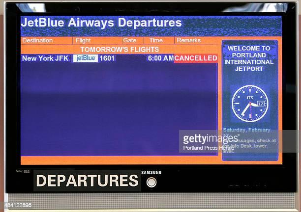Staff Photo by Jill Brady JetBlue cancels all flights to New York Saturday February 17 2007 jet blue jetport