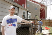 Staff Photo by Jill Brady Thursday April 20 2006 Bryan Tarbox lives next door to Logan Place with his 9 yearold son Zachary Bryan says there have...